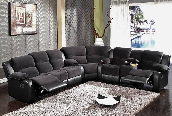 Image of: black sofa sectionals color