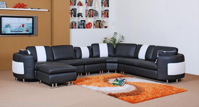 Image of: black sofa sectionals