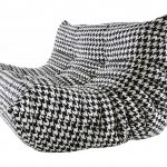 black white togo sofa