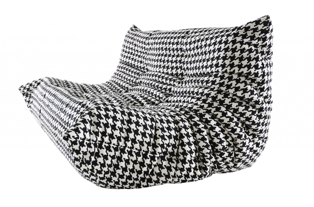 Image of: black white togo sofa