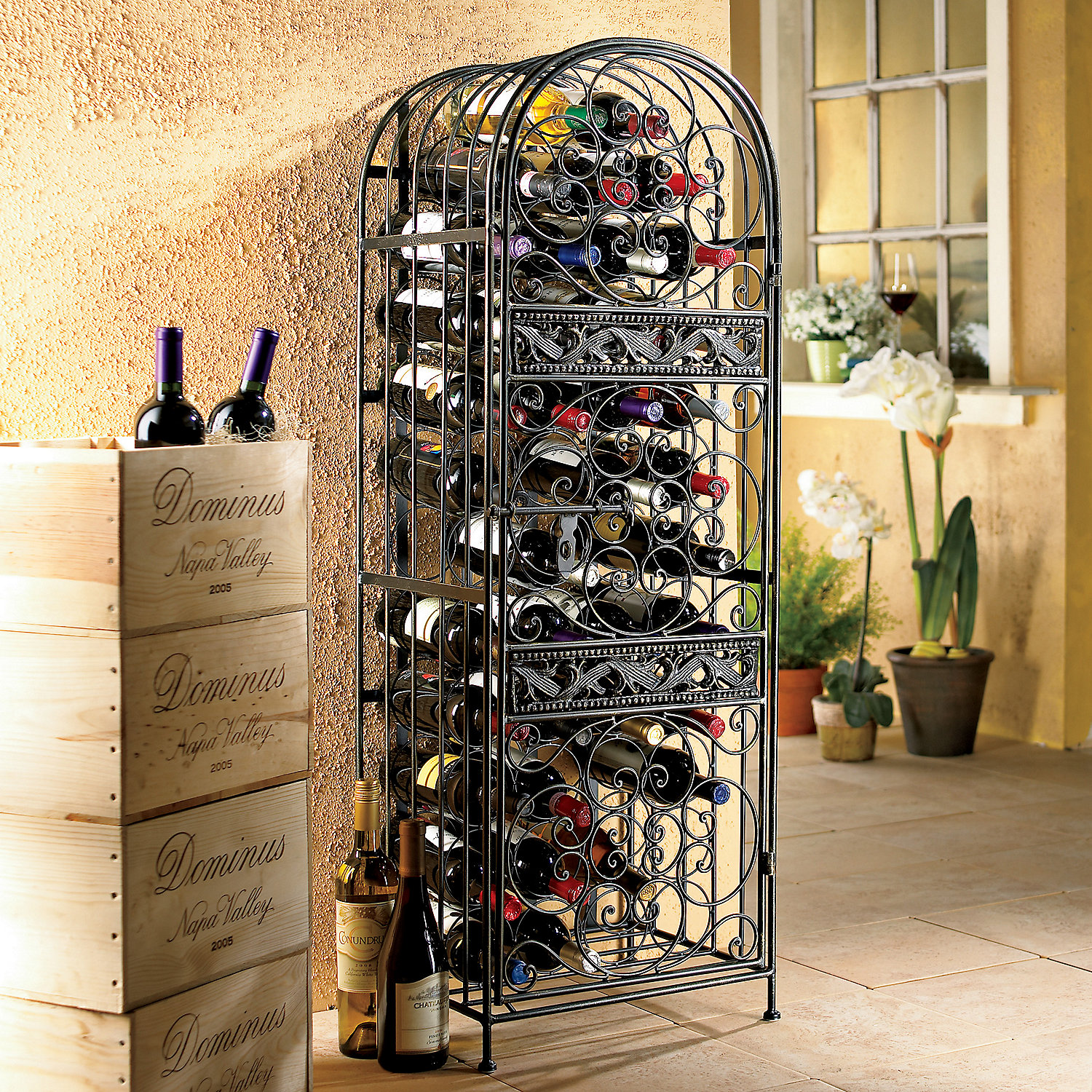 Image of: cheap wine rack plans