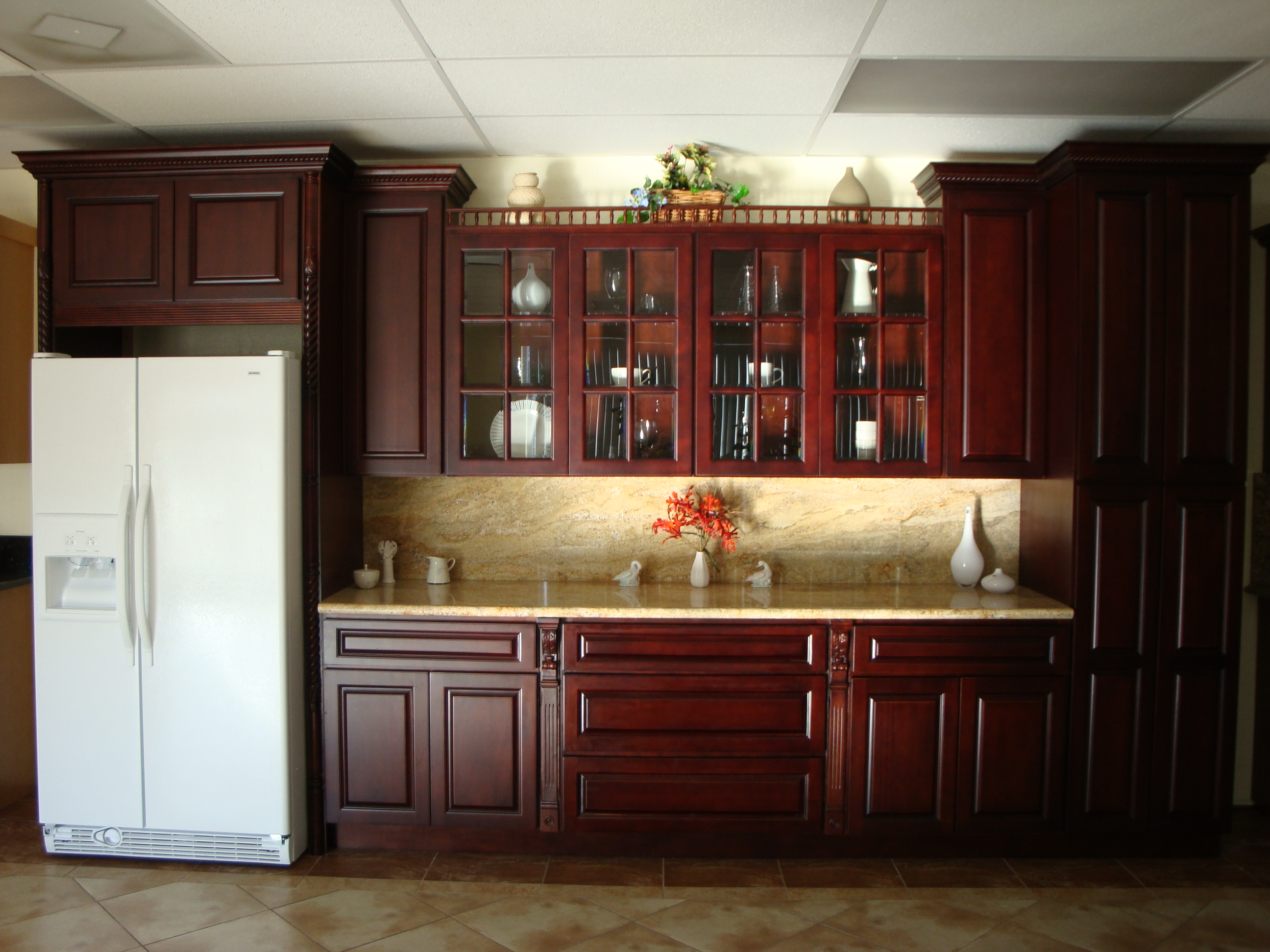 Image of: cherry cabinets chocolate