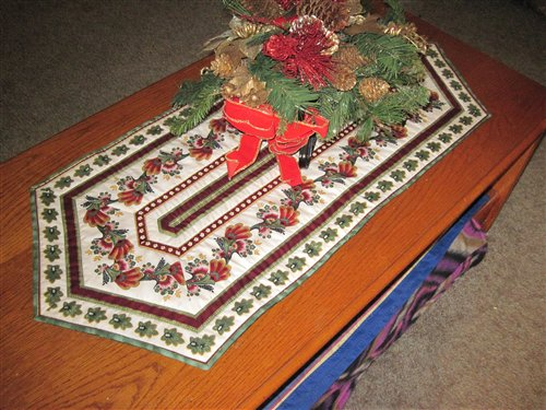 Image of: christmas table runner image