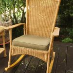 classic wicker rocking chair