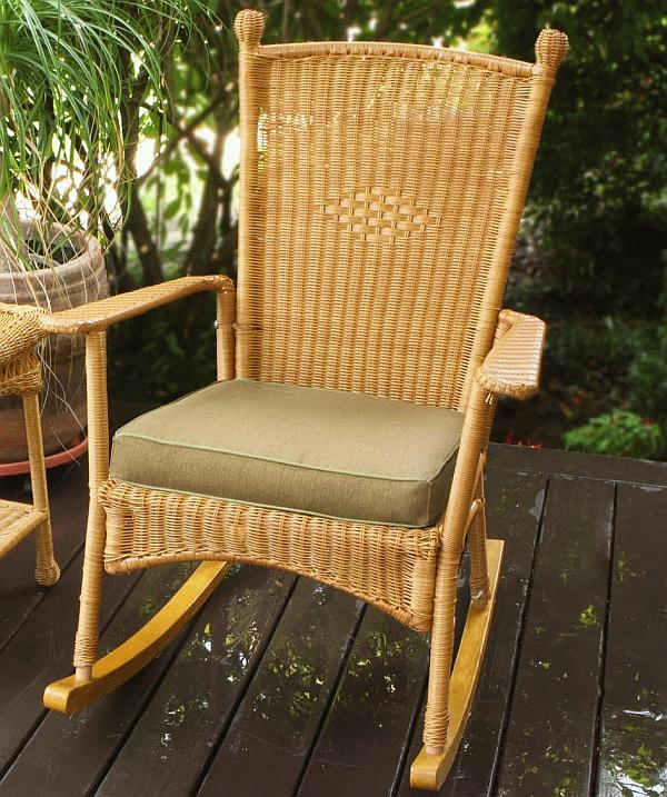 Image of: classic wicker rocking chair