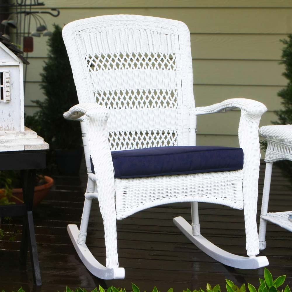 Image of: color wicker rocking chair ideas