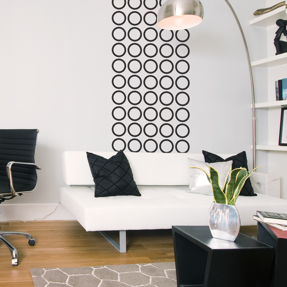 Image of: contemporary circles wall decal