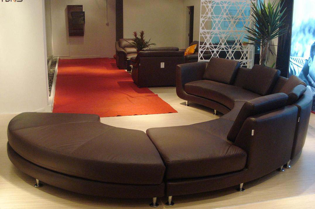 Image of: contemporary curved sofa