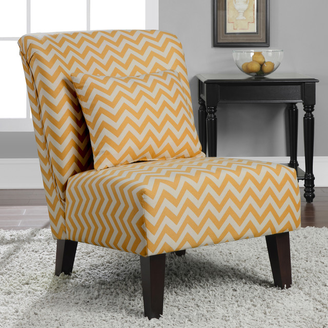 Image of: contemporary yellow accent chair
