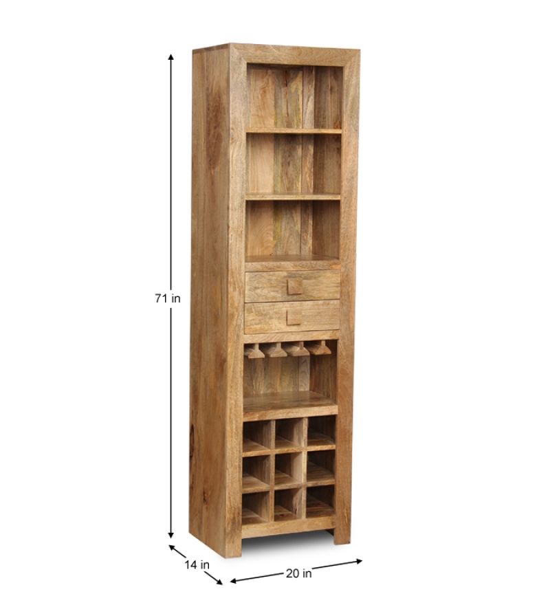 Image of: corner bar cabinet wood