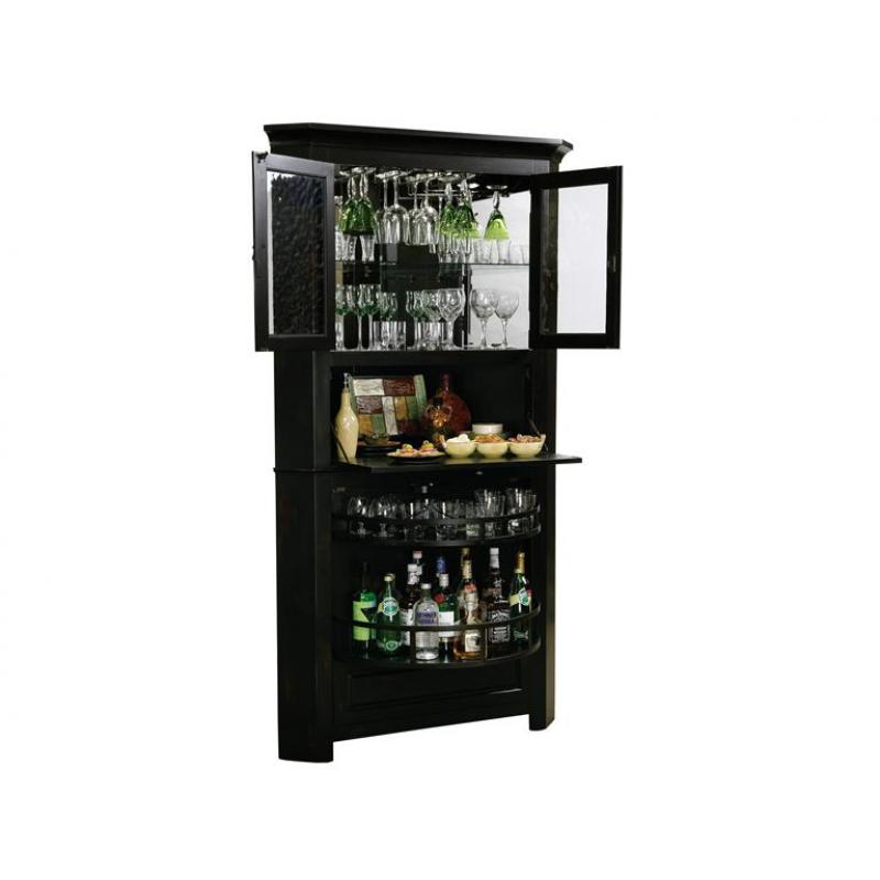 Image of: corner bar cabinet