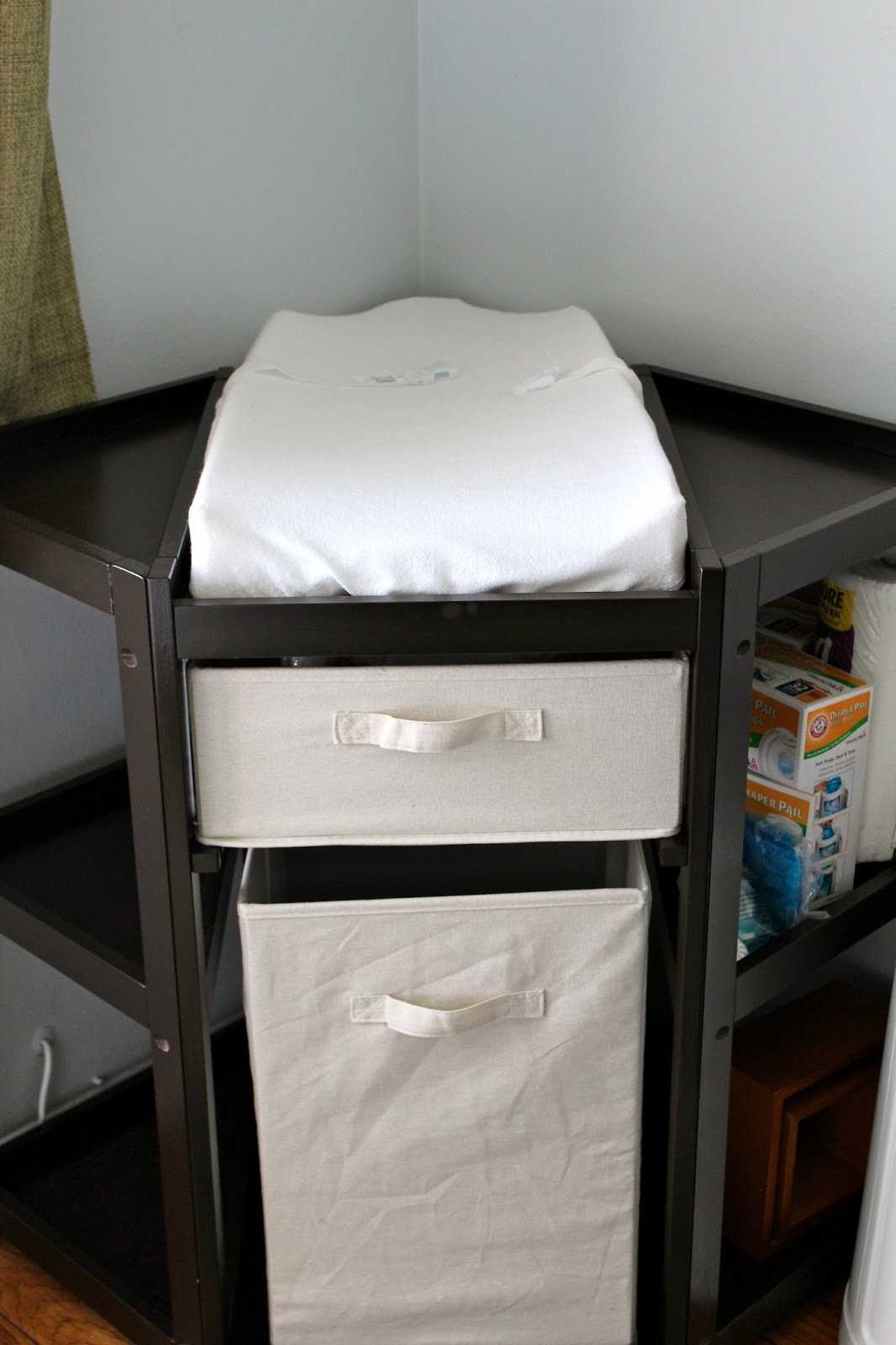 Image of: corner changing table black color