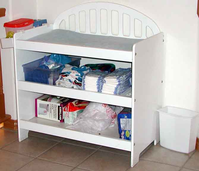 Image of: corner changing table design elegant