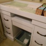 corner changing table for baby design