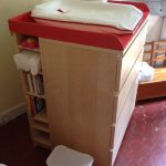 corner changing table for girls