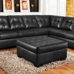 cozy tufted leather sofa
