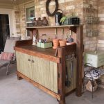 created potting bench