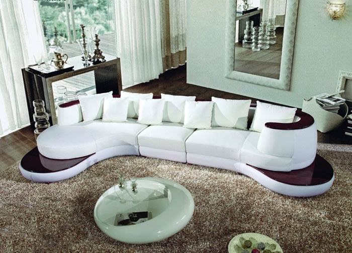 Image of: curved sofa design