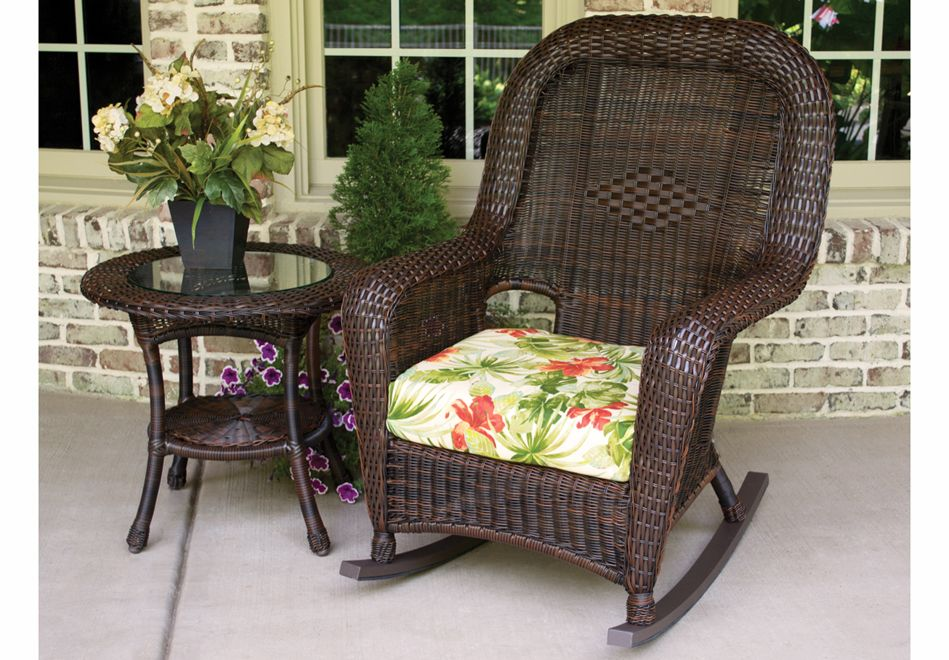 Image of: design wicker rocking chair