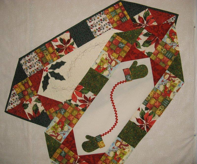 Picture of: easy christmas table runner