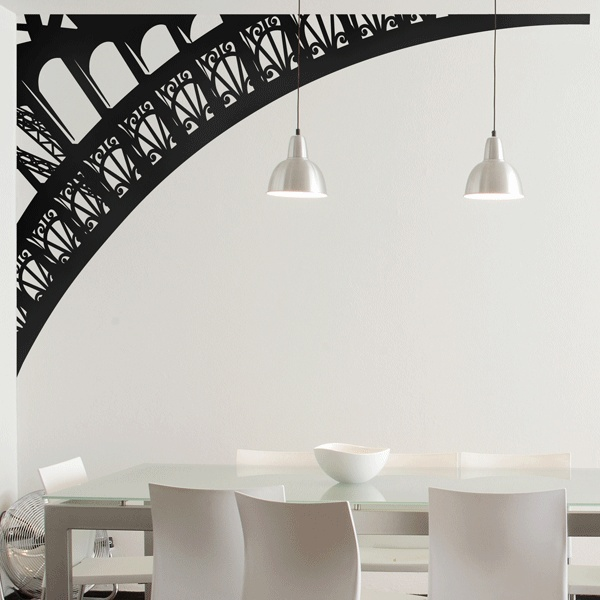 Image of: eiffel tower arch wall decal