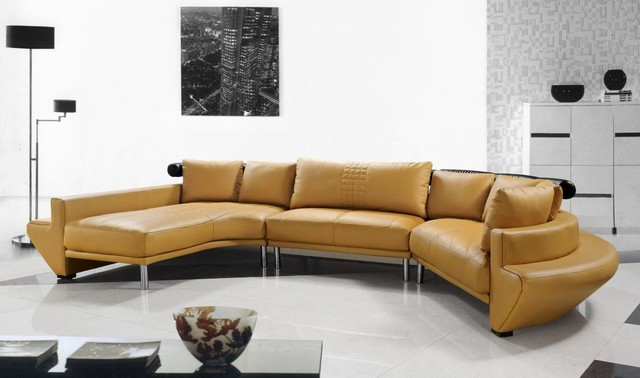 Image of: Elegant curved sofa picture