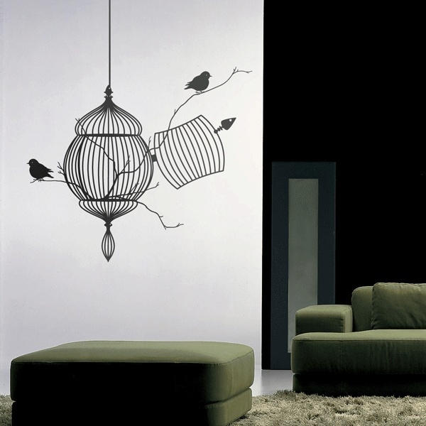 Image of: free bird wall decal modern