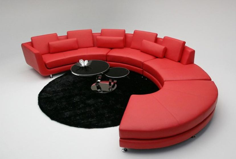 Image of: furniture curved sofa