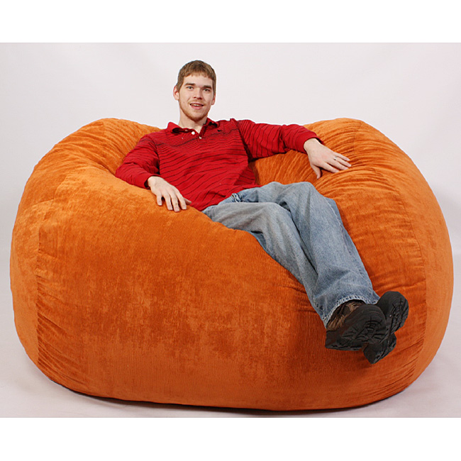 Picture of: giant orange fuf chair