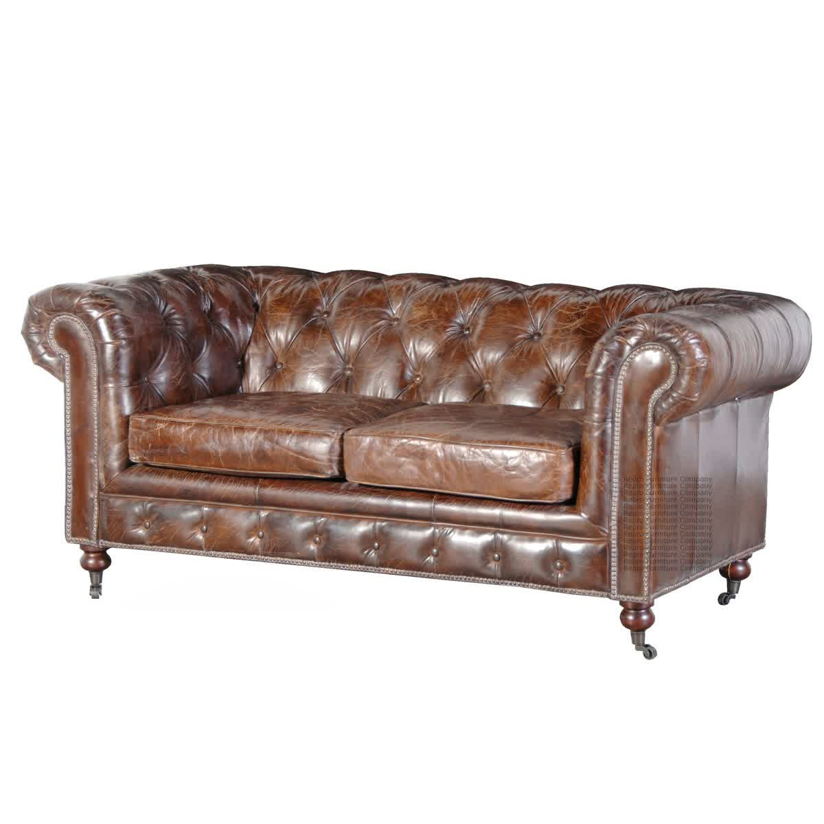 Image of: glamorous tufted leather sofa