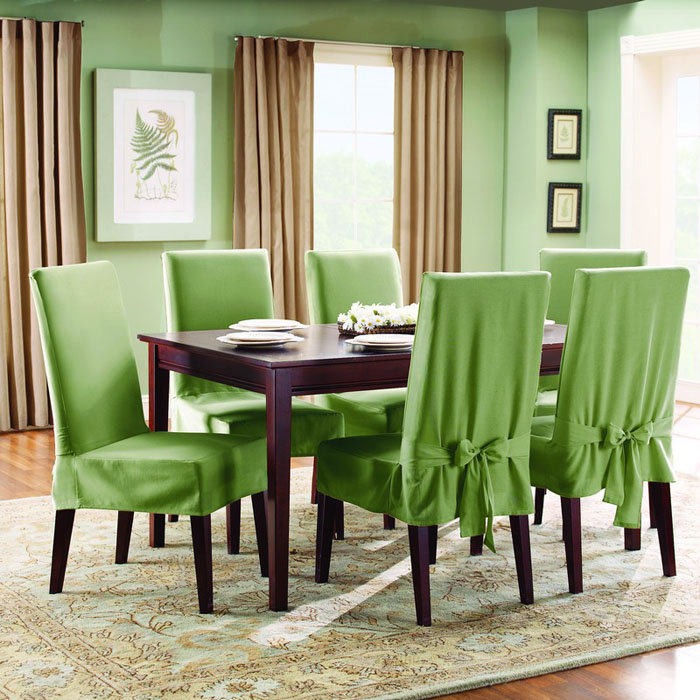 Green Parsons Chair Slipcovers