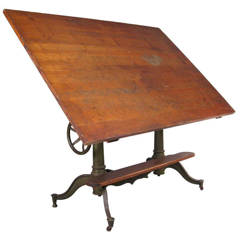 Picture of: ideas wood vintage drafting table