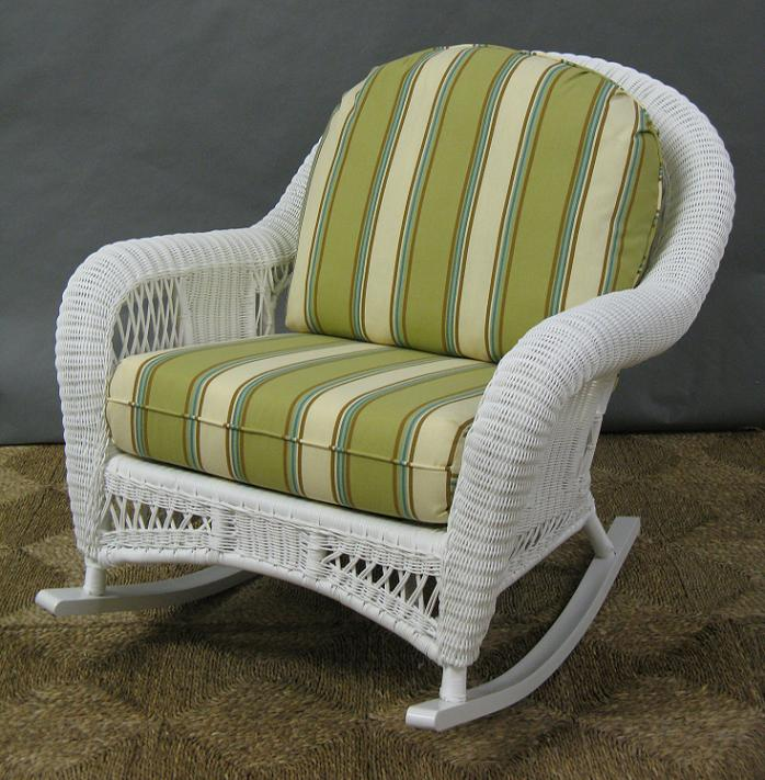Image of: image wicker rocking chair