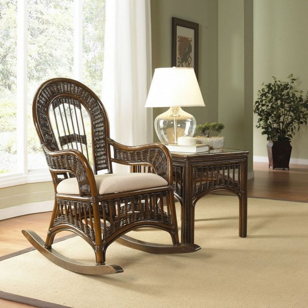 Image of: indoor wooden rocking chairs