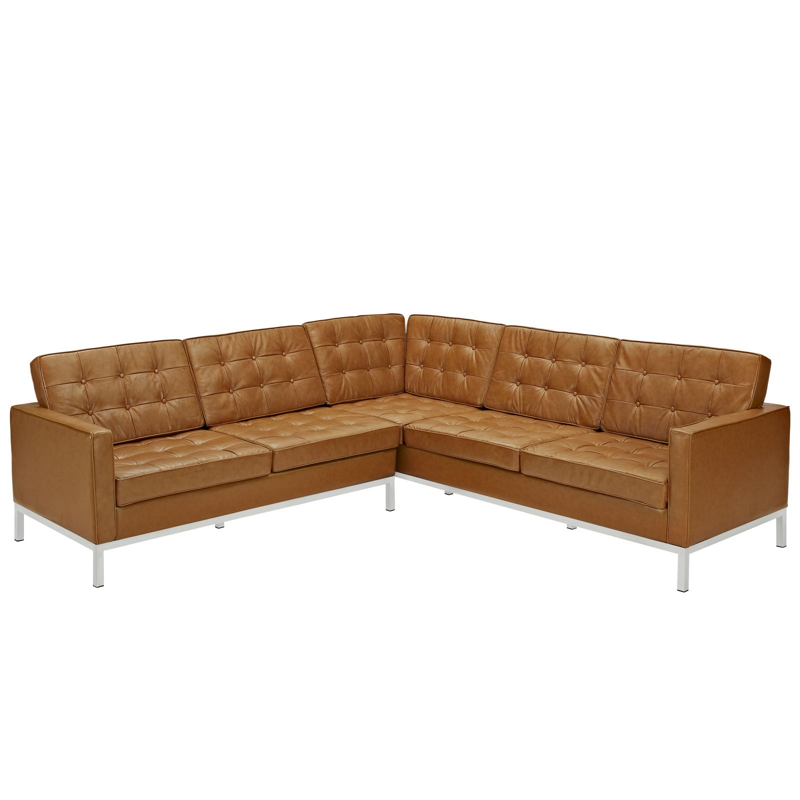 Image of: inspiration tufted leather sofa
