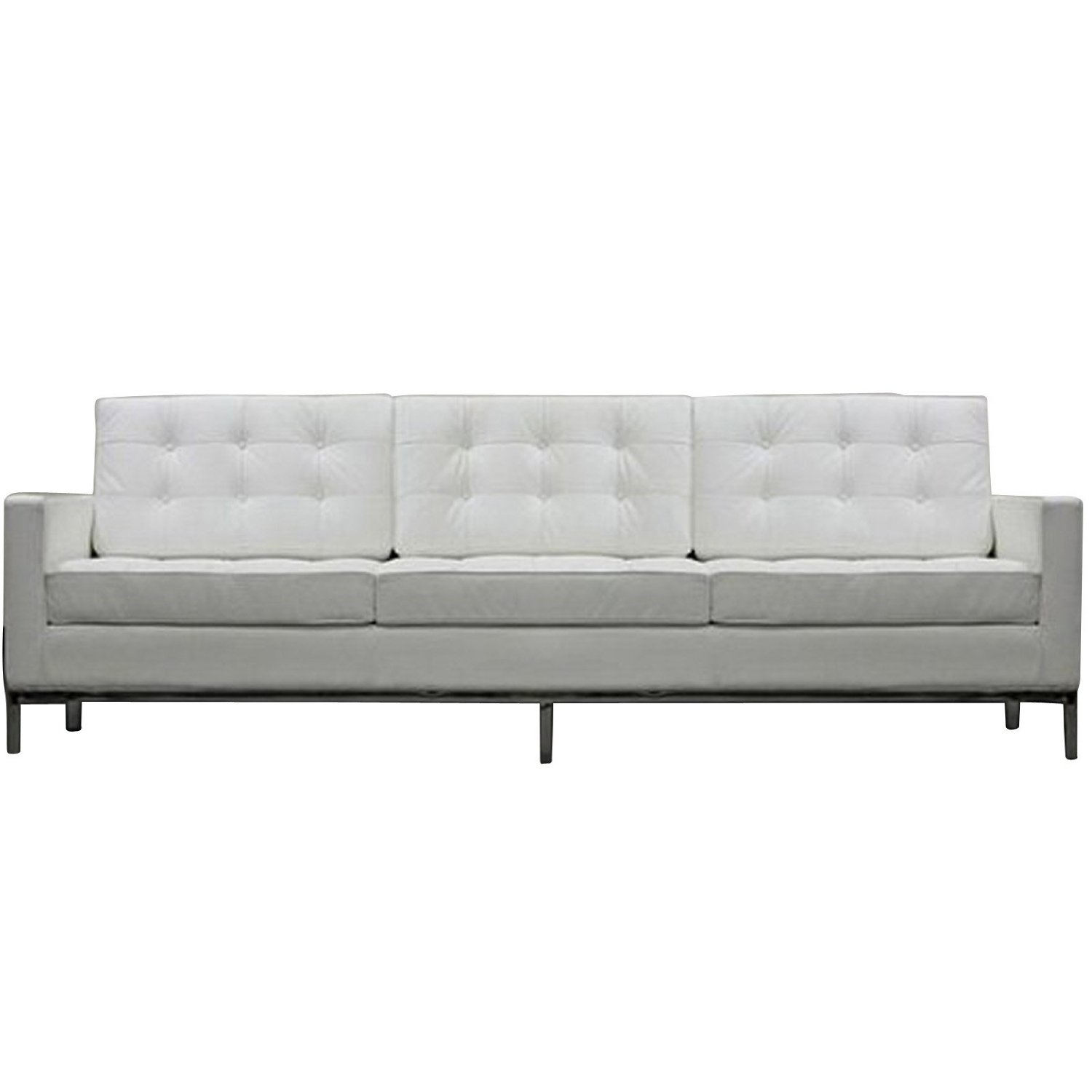 Image of: interior furniture tufted leather sofa