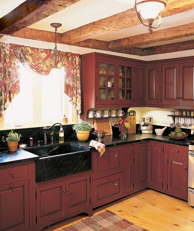 Image of: italian rustic kitchen cabinets