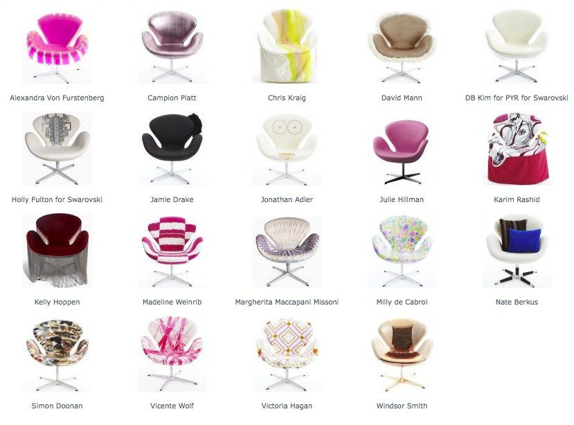 Image of: kinds of Swan Chair