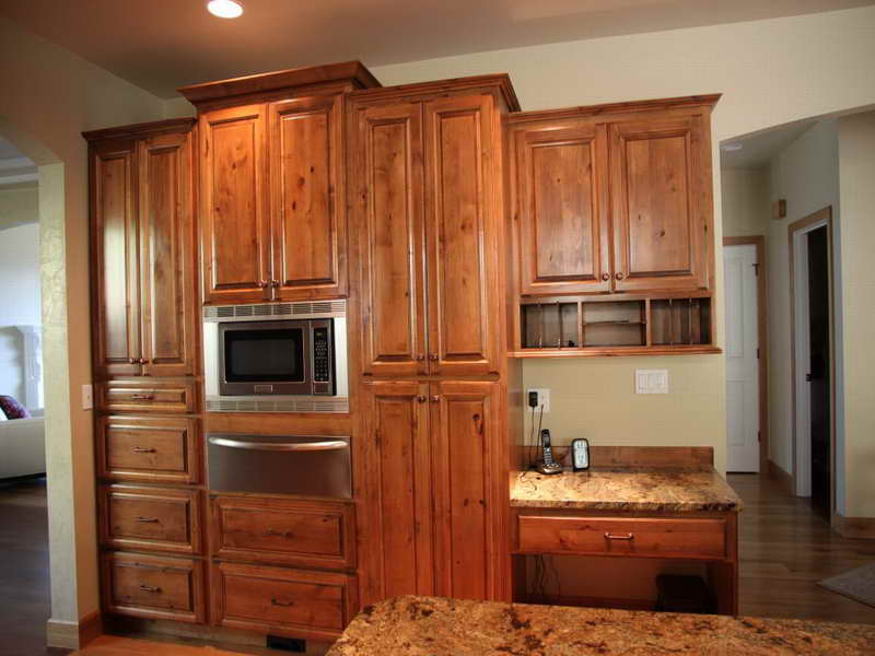knotty alder cabinets kitchen Minimalist