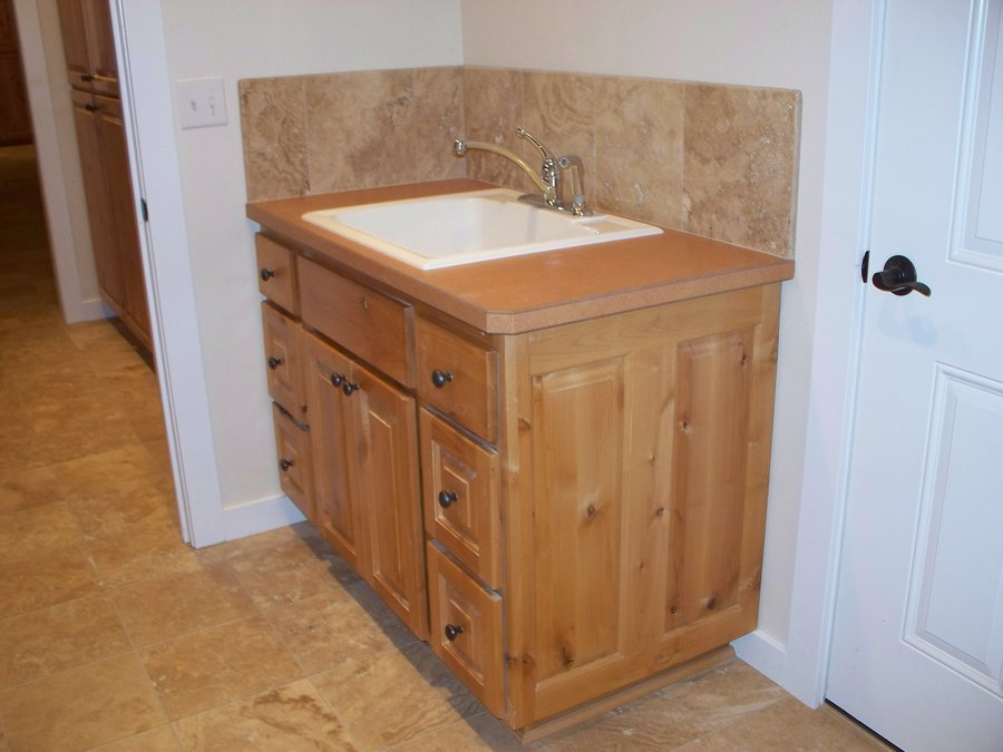 Picture of: knotty alder cabinets kitchen