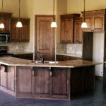 knotty alder cabinets with table design