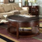 leather round ottoman coffee table
