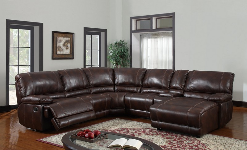 Image of: leather sectional sofas color