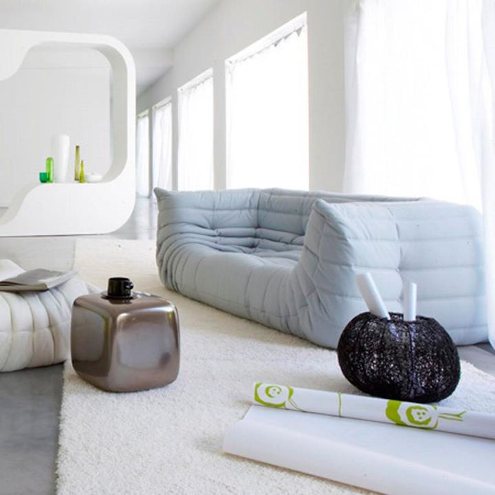 Image of: light grey togo sofa