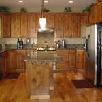 light knotty alder cabinets