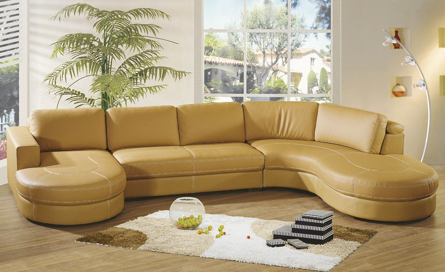Image of: living room leather sectional sofas