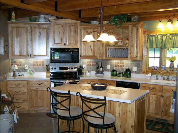 Image of: luxury rustic kitchen cabinets