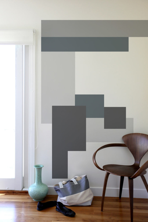 Image of: magnificent geometric wall decals ideas