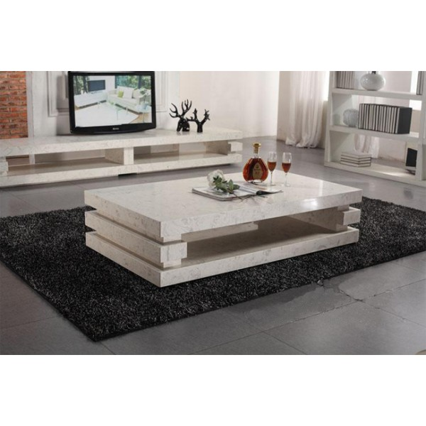 Image of: marble Stone Coffee Table