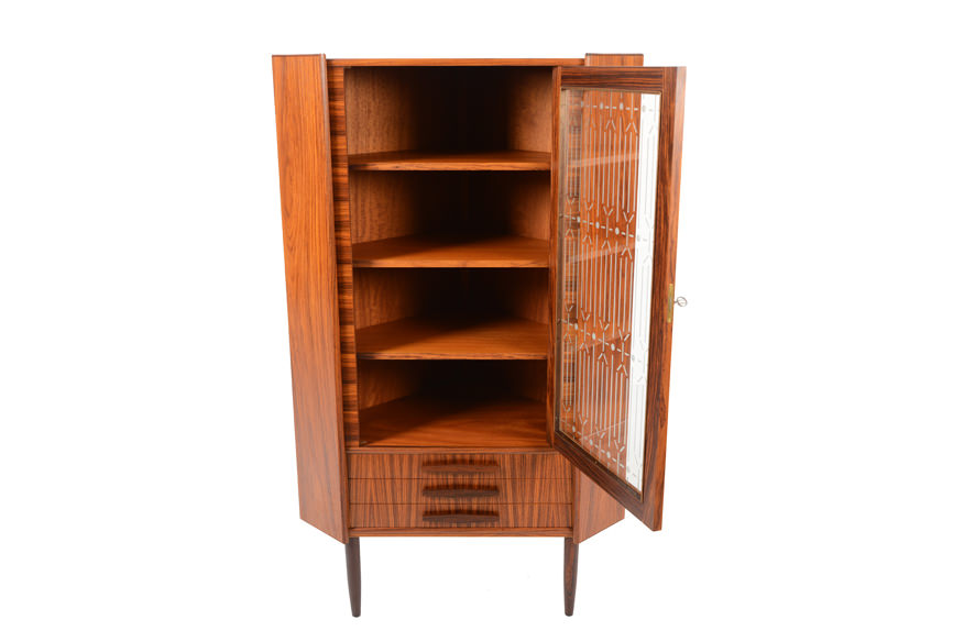 Image of: mid century corner bar cabinet wood